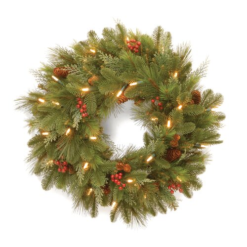 "National Tree Co. Pre-Lit 24"" Noelle Wreath"