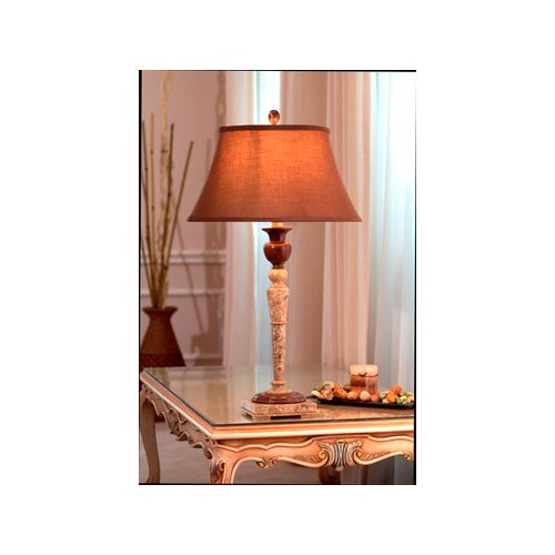 "Lex Lighting Chocolate and Fossil Marble 32"" H Table Lamp"
