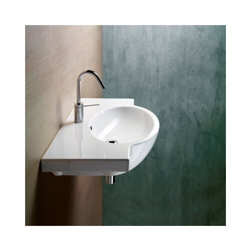Panorama Modern Stylish Design Curved Wall Mounted Bathroom Sink