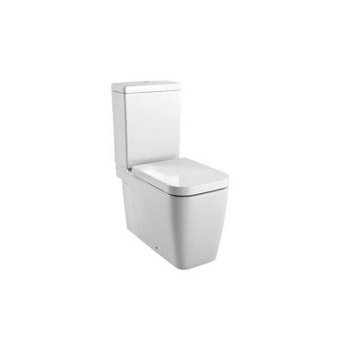 Traccia Contemporary Ceramic Floor Mounted Round 2 Piece Toilet (Set of 4)
