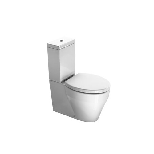 Losagna Contemporary Ceramic Floor Mounted Round 2 Piece Toilet