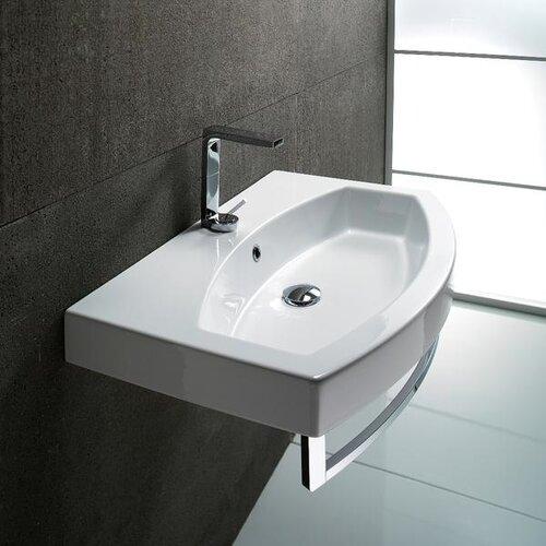 Losagna Contemporary Design Curved Ceramic Sink