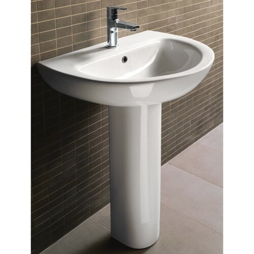 gsi collection city modern curved pedestal sink reviews wayfair
