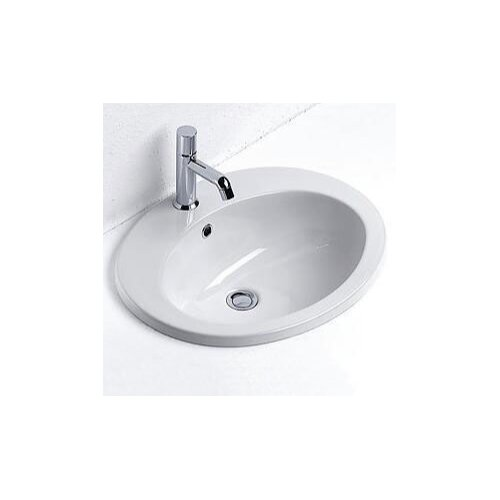 GSI Collection Panorama Contemporary Oval Self-Rimming Bathroom Sink
