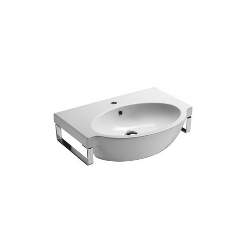 Panorama Modern Curved Wall Mounted Bathroom Sink