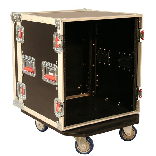 Gator Cases Tour Wood Flight 19.25 Deep Audio Road Rack with Casters