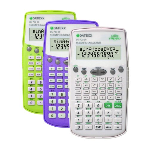 Datexx 2 Line LCD Display with Equation and Fraction Calculation