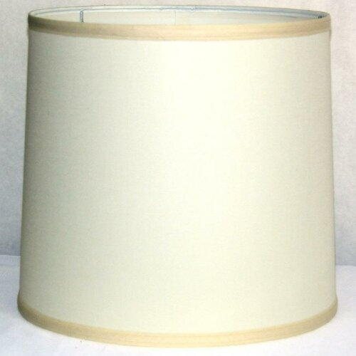"Lamp Factory 13"" Linen Drum Lamp Shade"
