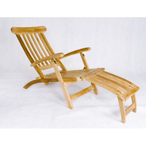 Les Jardins Teak Steamer Lounge Chair