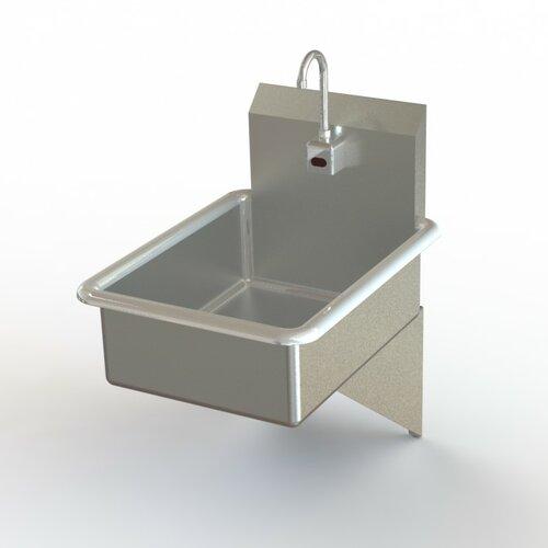 Stainless steel utility sinks wayfair Stainless steel bathroom sink wall mount