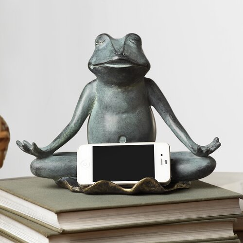 Yoga Frog Cell Phone Holder with Bluetooth Speaker