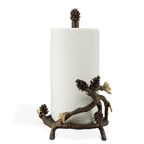 Pinecone Paper Towel Holder