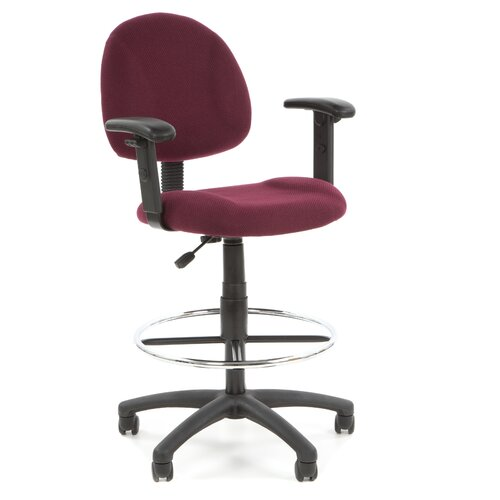 Boss Office Products Heather Height Drafting Stool with Footring