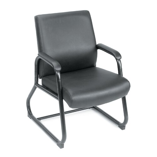Boss Office Products Caressoft Guest Chair with Sled Base