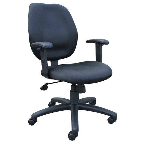 Boss Office Products Ratchet Mid-Back Molded Foam Task Chair with Adjustable Arms