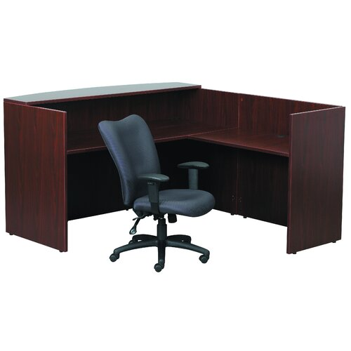 Boss Office Products L-Shape Reception Desk
