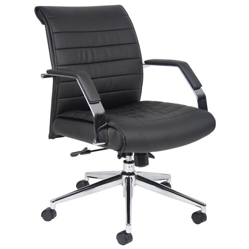 Boss Office Products Mid-Back Executive Chair with Arms