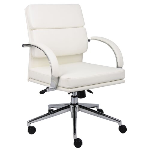 Boss Office Products Caressoft Plus Mid-Back Executive Chair
