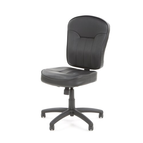Boss Office Products Leather Mid-Back Armless Chair