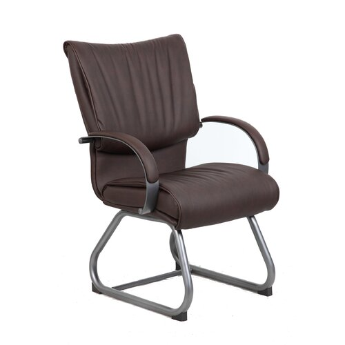 Boss Office Products Mid-Back Leatherplus Guest Chair
