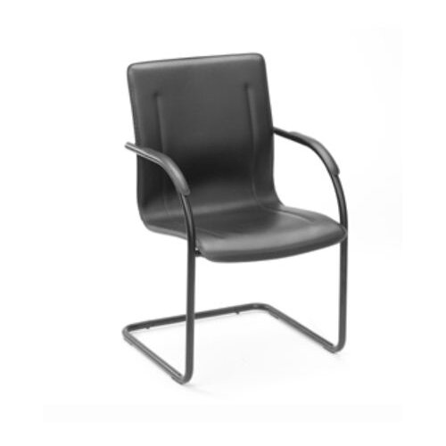 Boss Office Products Side Guest Chair with Steel Frame