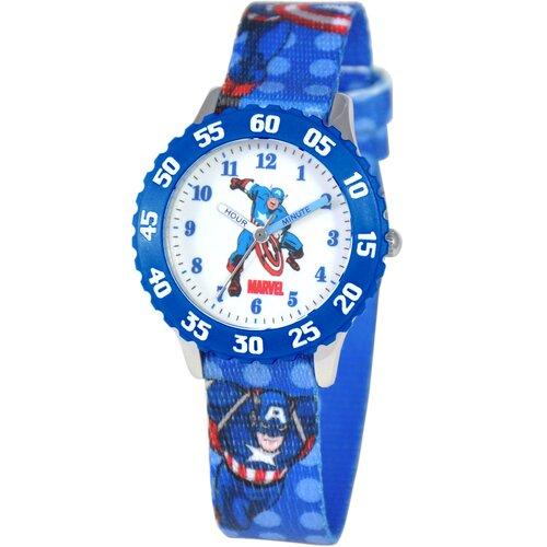 Marvel Kid's Captain America Time Teacher Watch in Blue