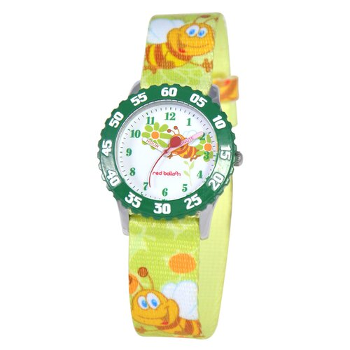 Red Balloon Kid's Buzzing Bees Time Teacher Watch in Green