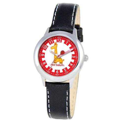 Red Balloon Kid's Jungle Animals Time Teacher Watch in Black