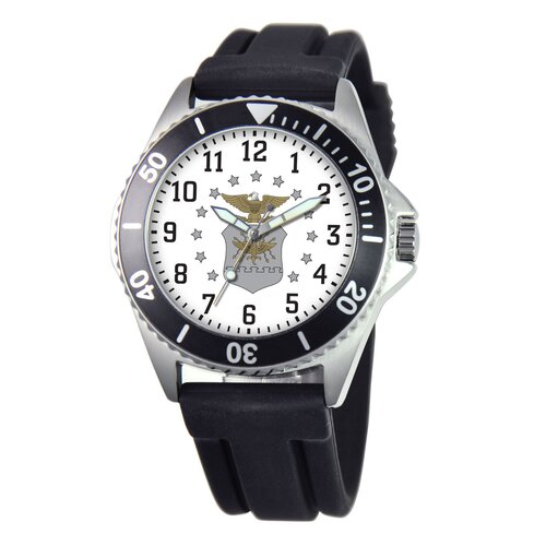 EWatchFactory Men's U.S. Air Force Honor Rubber Strap Watch