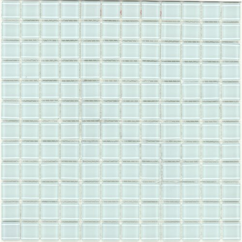 Surfaces Elida Glass Mosaic in Clear with Hints of Blue and Green