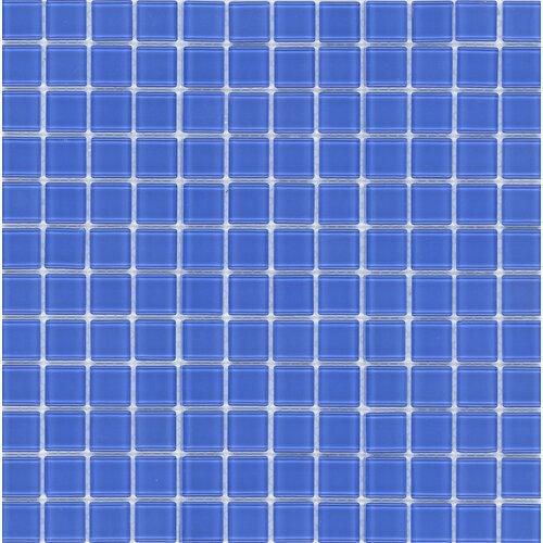 Surfaces Elida Glass Glossy Mosaic in Indigo Blue