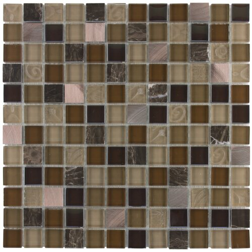 Surfaces Elida Glass Mosaic in Coral Light Metal Glass