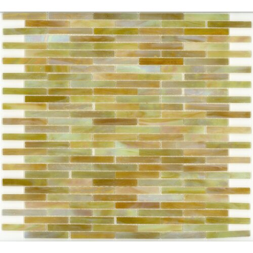 Surfaces Elida Glass Mosaic in Onyx Brick