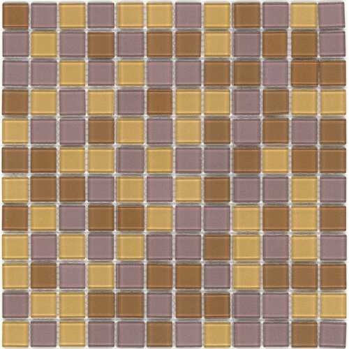 Surfaces Elida Glass Mosaic in Gold/Bronce Multicolor