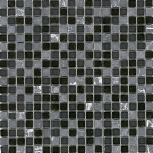Surfaces Elida Glass Mosaic in Marquina Stone