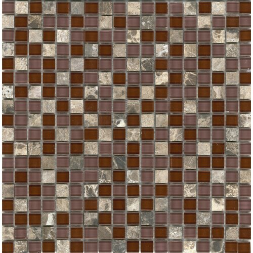 Elida Glass Mosaic in Cherry Stone