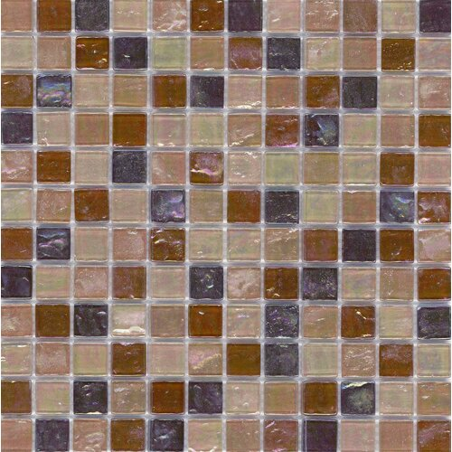 Elida Glass Mosaic in Tan Oil