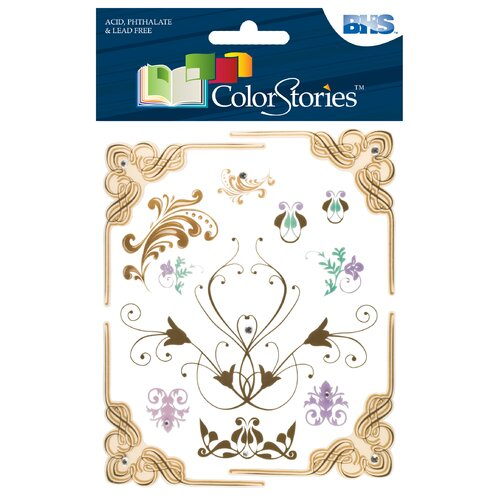 Alvin and Co. Colorstories Jeweled Rub-Ons