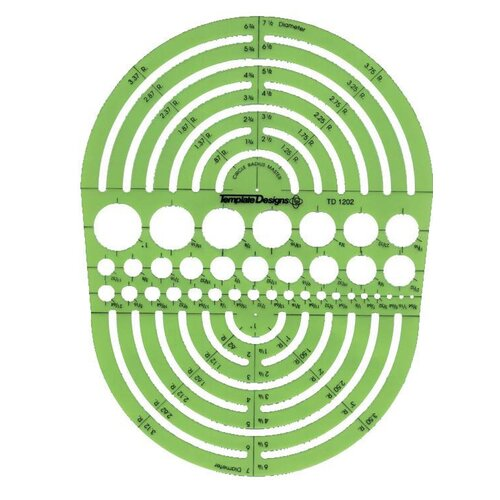 Alvin and Co. Circle Radius Master Template
