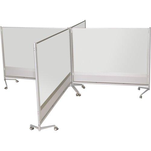 Best-Rite® D.O.C. Partition Dura-Rite 6' x 6' Whiteboard
