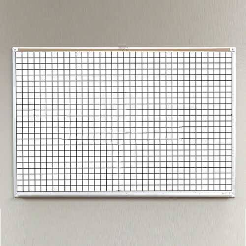Best-Rite® Porcelain Lifetime Grid Line 4' x 8' Whiteboard