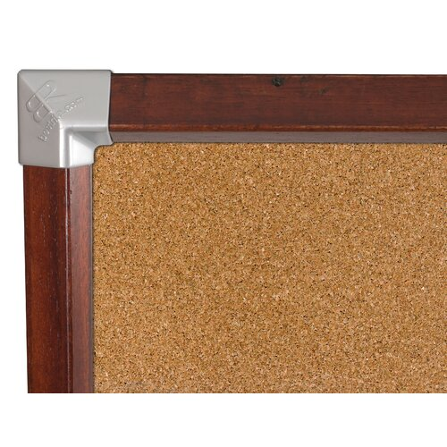 Best-Rite® Elan Trim Natural Cork Tackboard