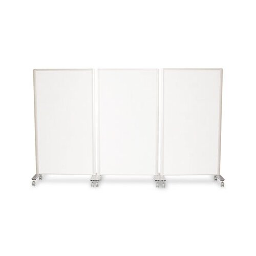 "Best-Rite® Lumina Room Dividers, 39.5"" W x 72"" H, Aluminum"