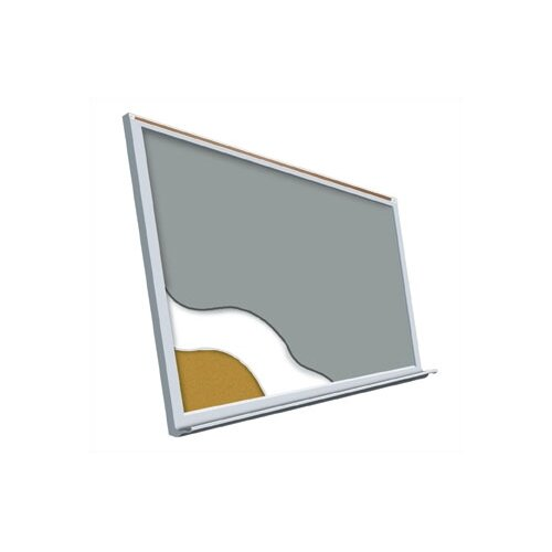 "Best-Rite® Projection Plus - Aluminum Trim 36"" x 48"""