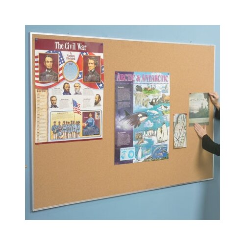Best-Rite® Valu-Tak Tackboard Series VT-370 - Wood Trim