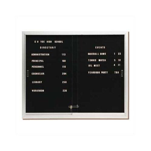 Best-Rite® Deluxe Directory Board Sliding Doors