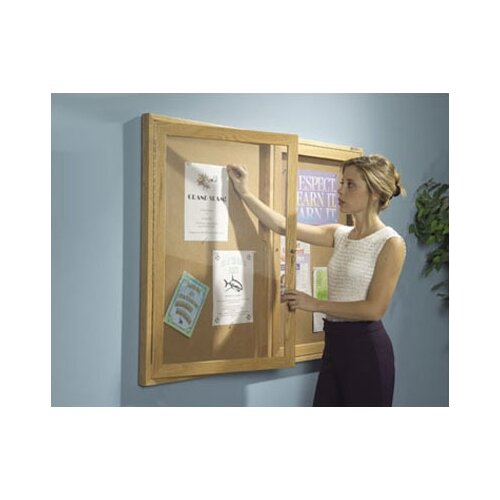 Best-Rite® Enclosed Bulletin Board Cabinet