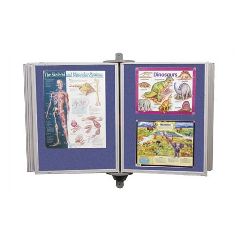 Best-Rite® Full View Swinging Panels 4' x 6' Bulletin Board