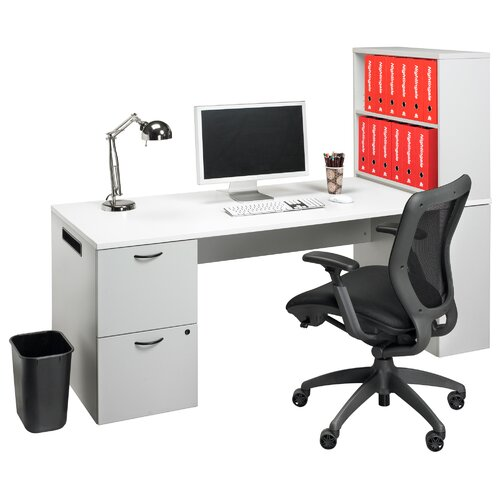 Nightingale Chairs Office In a Box Desk with Bookcase and File