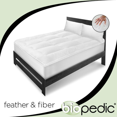BioPEDIC Executive Suite 100% Cotton Feather / Fiber Bed with Pillows